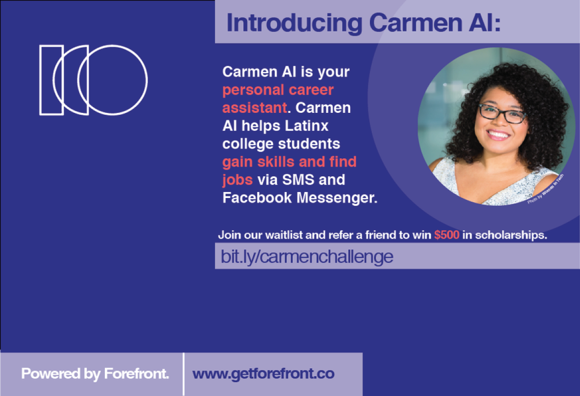 Ambassador Project introducing Carmen AI to learn more go to bit.ly/carmenchallenge.