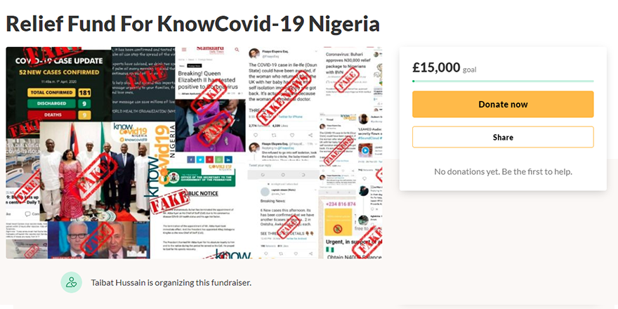 Know COVID fundraise