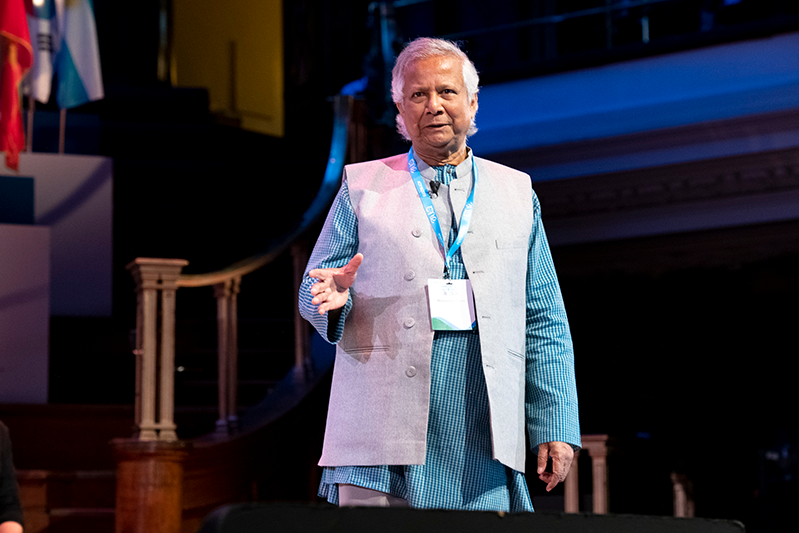 Professor Muhammad Yunus at the One Young World Summit 2019