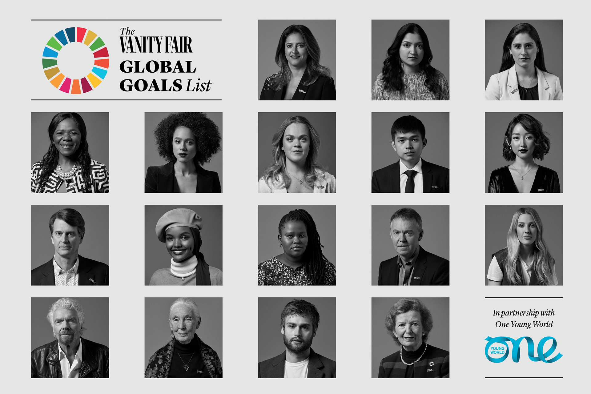Vanity Fair Global Goals List