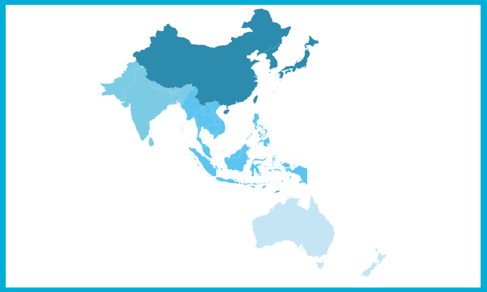 Asia ANZ map