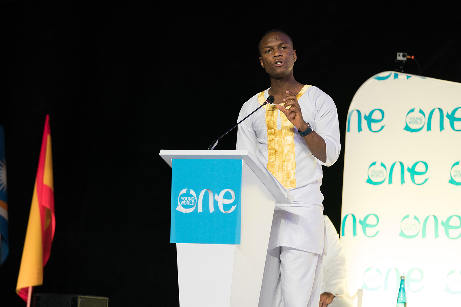 Ousmane Ba talking at an OYW summit