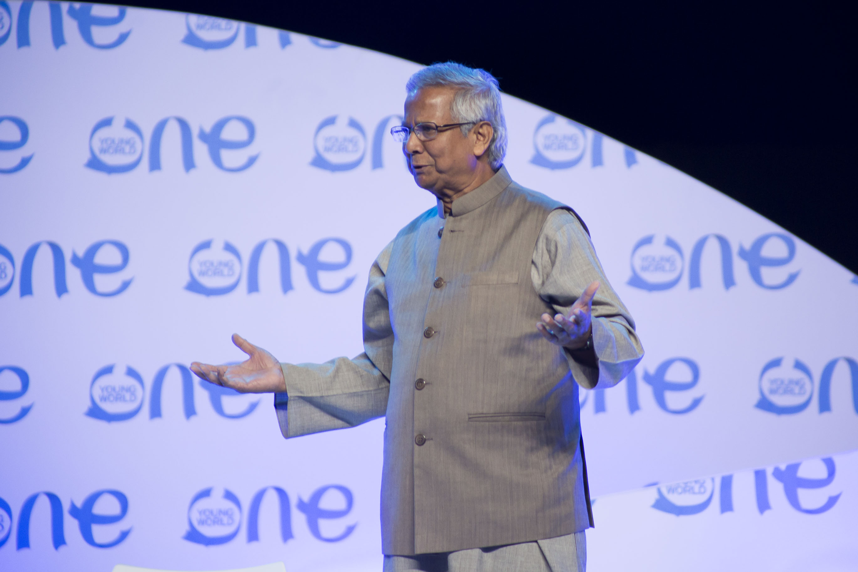 Professor Muhammad Yunus, Nobel Peace Prize, Laureate, One Young World, Economist