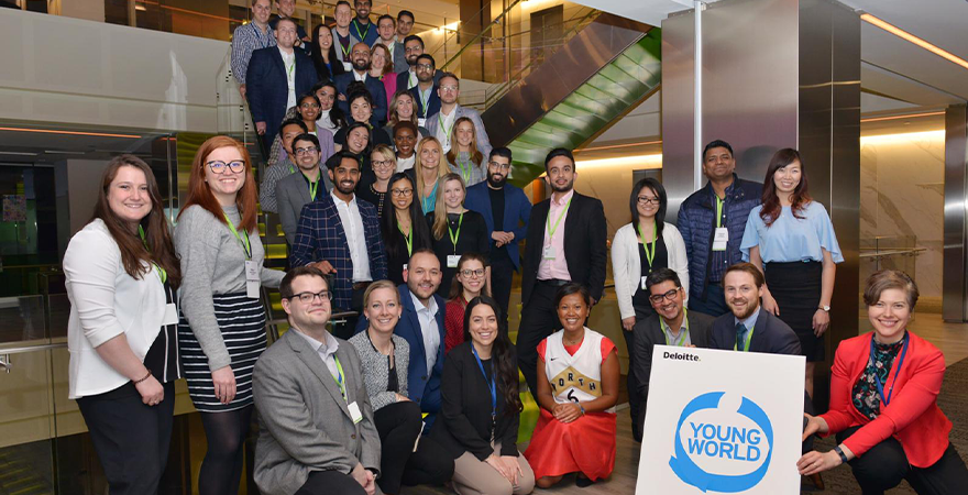 one young world, oyw, caucus, event, impact, torono, deloitte