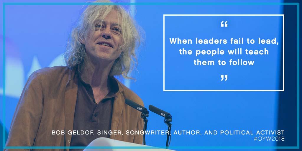 amber heard, paul polman, bob geldof, luke hart, one young world, oyw, john major, summit, young leaders