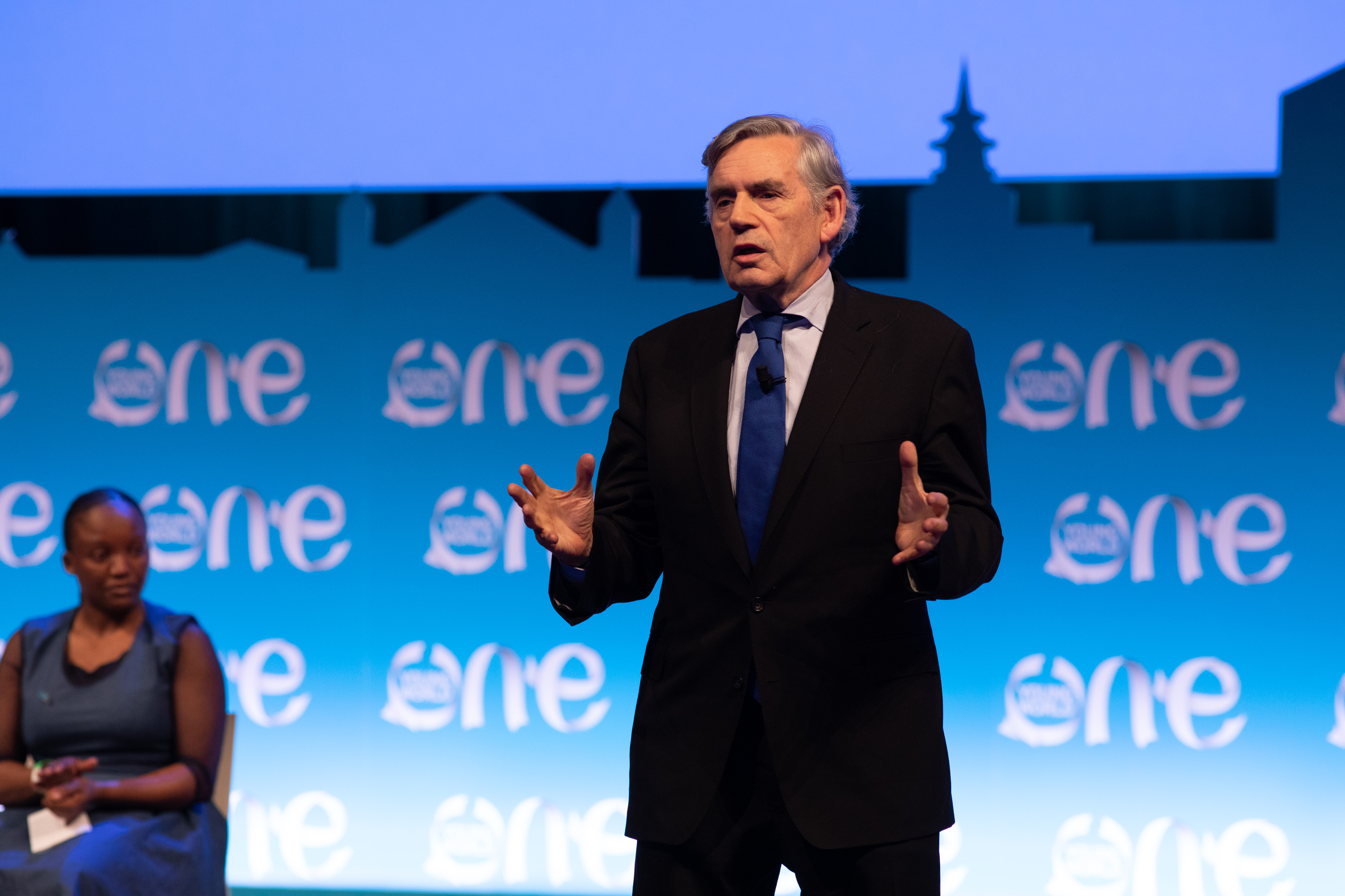 gordon brown, one young world, united nations
