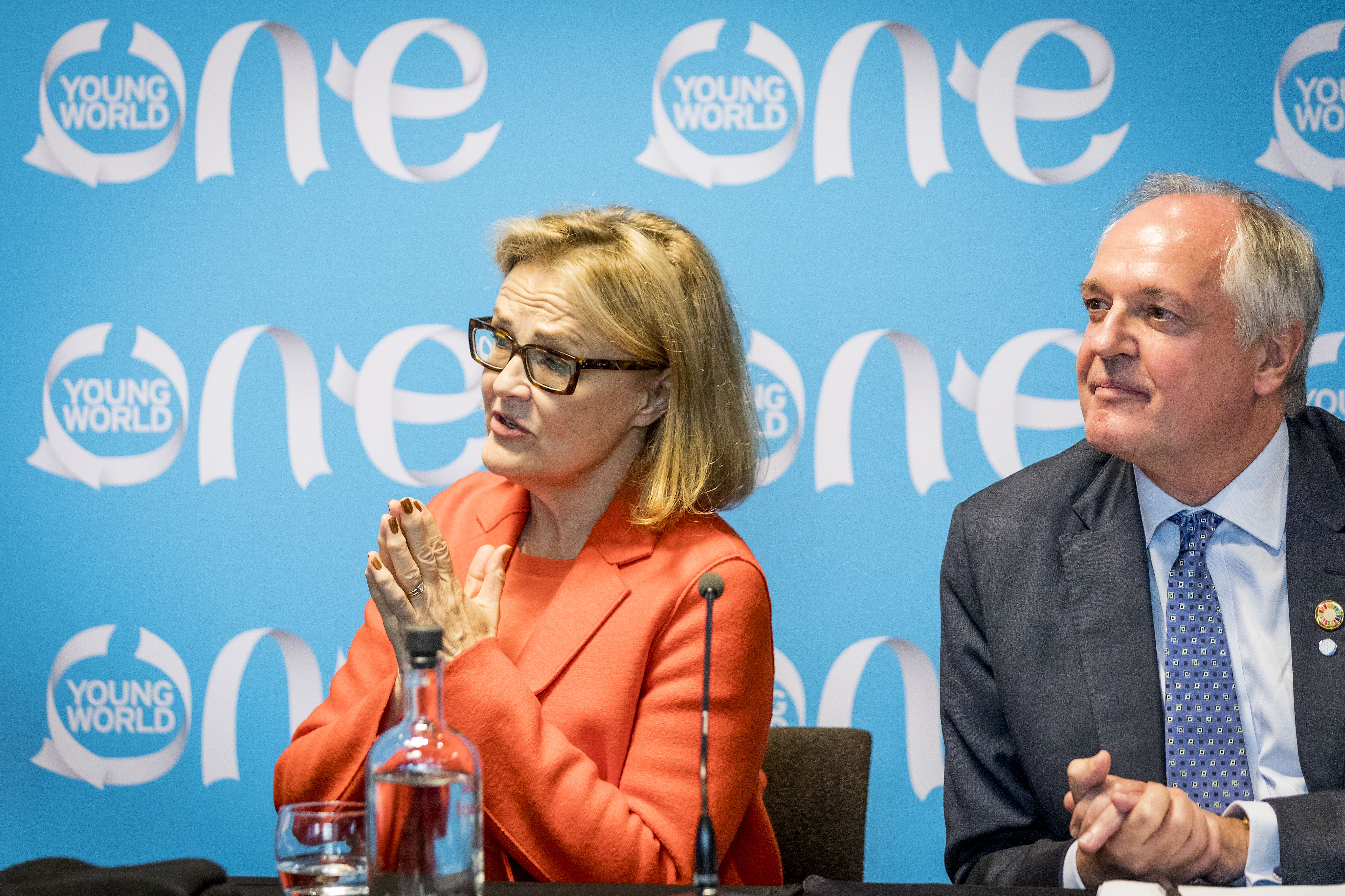 paul polman, one young world, oyw, press conference, kate robertson