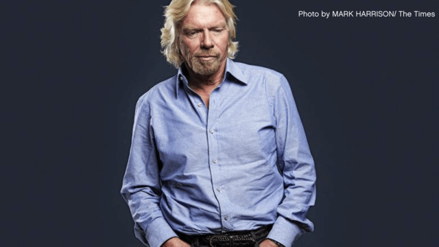 Richard Branson in shirt and jeans